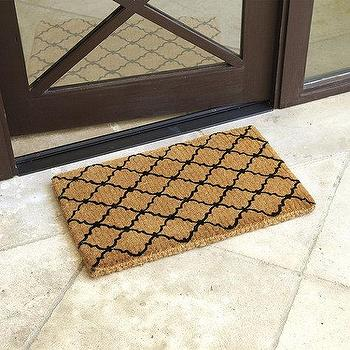 Rugs - Trellis Coir Mat | Ballard Designs - geometric front door mat, geometric coir mat, trellis front door mat, lattice front door mat,