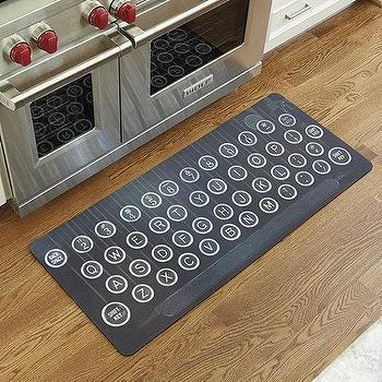 Rugs - Vintage Typewriter Comfort Mat | Ballard Designs - typewriter floor mat, typewriter kitchen mat, typewriter rug, vintage typewriter floor mat,