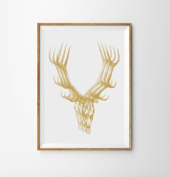 gold antler wallpaper - photo #38