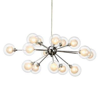 Lighting - Maddox Chandelier | Z Gallerie - glass bulb chandelier, glass orb chandelier, nickel and glass orb chandelier, contemporary orb chandelier,