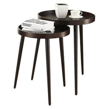Tables - 2 Piece Nesting Table Set I Target - espresso nesting tables, round espresso nesting tables, espresso tripod nesting tables,
