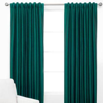 Window Treatments - Vienna Panels | Z Gallerie - teal green drapes, teal green curtains, teal faux silk drapes, teal faux silk curtains,