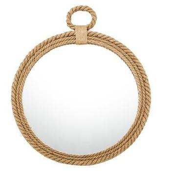 Mirrors - Threshold Round Rope Mirror I Target - round rope mirror, rope framed mirror, round jute rope mirror,