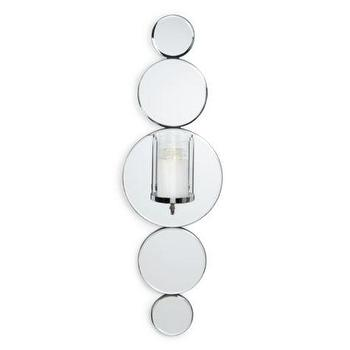 Art/Wall Decor - Delphine Wall Sconce | Z Gallerie - mirrored wall sconce, contemporary mirrored candle sconce, round mirrored candle sconce,