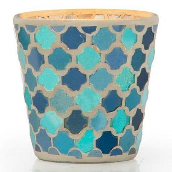 Decor/Accessories - Cambria Votive | Z Gallerie - blue moroccan tile votive, blue moroccan candle votive, blue and gold moroccan votive,