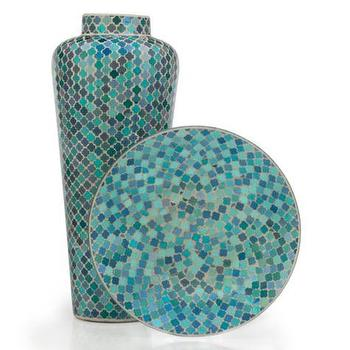 Decor/Accessories - Cambria Collection | Z Gallerie - blue moroccan vase, blue moroccan plate, moroccan tiled vase, moroccan tiled platter, blue moroccan tiled vase, blue moroccan tiled platter,
