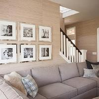 living rooms: mirror frames, mirrored picture frames,  west elm frames