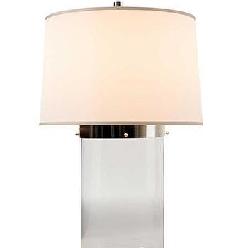 Lighting - Simple Cylinder Glass Table Lamp I High Street Market - glass table lamp, glass cylinder lamp, modern glass table lamp,
