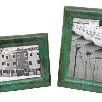 Decor/Accessories - Green Tab Frames | Jayson Home - emerald green frame, emerald green photo frame, dark green photo frame,
