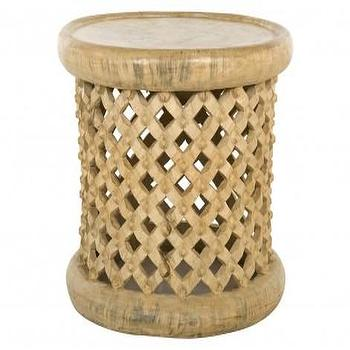 Tables - Kula Table - Short | Jayson Home - bamileke side table, round bamileke side table, bamileke accent table,
