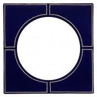 Mirrors - Rosalind Convex Mirror | Jayson Home - dark blue convex mirror, blue velvet convex mirror, blue mirror with nailhead trim,