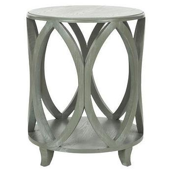Tables - Safavieh Dakota Accent Table I Target - gray drum side table, gray drum accent table, geometric gray accent table,