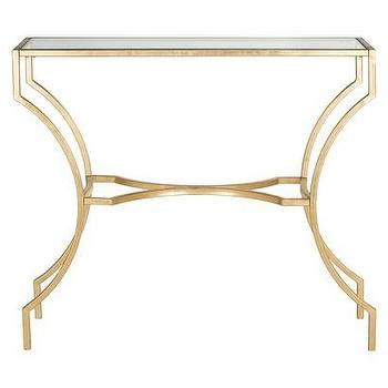Tables - Safavieh Alphonse Accent Table - Gold I Target - gold leafed accent table, gold glass topped accent table, gold leaf accent table,