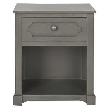 Storage Furniture - Safavieh Rosaleen Side Table - Gray I Target - gray single drawer nightstand, gray one drawer nightstand, gray nightstand,