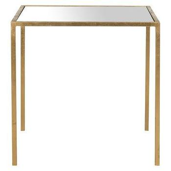 Tables - Safavieh Kiley Accent Table I Target - gold leafed accent table, square gold leafed accent table, glass topped gold side table,