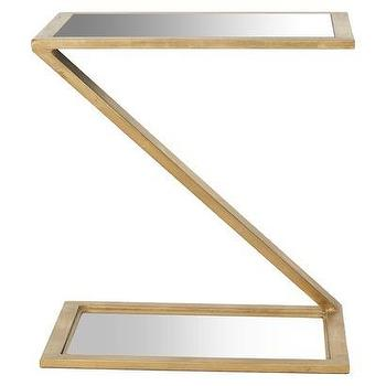 Tables - Safavieh Andrea Accent Table I Target - gold z shaped accent table, contemporary gold leafed side table, gold z shaped side table,