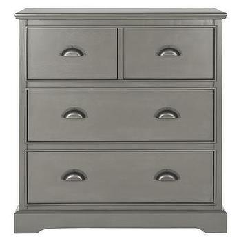 Storage Furniture - Safavieh Prudence Storage Chest - Gray I Target - gray storage chest, gray chest with cup pulls, gray chest of drawers, gray five drawer dresser,