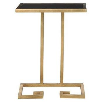 Tables - Safavieh Murphy Accent Table I Target - gold accent table with black top, gold greek key side table, gold greek key accent table,