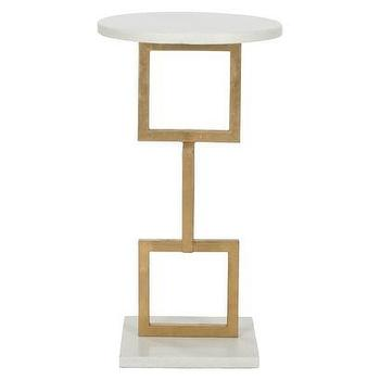 Tables - Safavieh Cassidy Accent Table I Target - gold geometric accent table, gold white marble side table, gold contemporary accent table, gold white marble accent table,