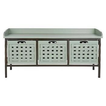 Storage Furniture - Safavieh Issac Storage Bench I Target - mud room bench, blue gray storage bench, mud room storage bench, blue gray mud room bench,