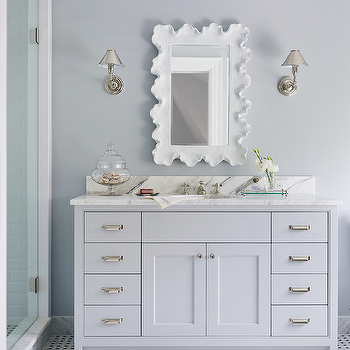 Scalloped Mirror, Transitional, bathroom, Andrew Howard interior Design