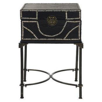 Storage Furniture - Safavieh Anthony Side Table - Black I Target - steamer trunk style side table, black trunk side table, trunk side table with nailhead trim,