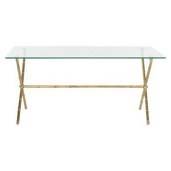 Tables - Safavieh Brogen Accent Table I Target - gold faux bamboo accent table, glass topped faux bamboo side table, rectangular faux bamboo accent table,