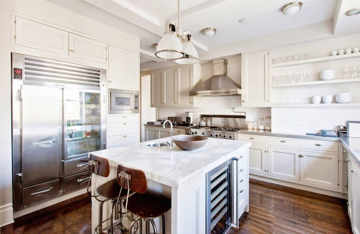 Island Wine Cooler Transitional Kitchen Cococozy