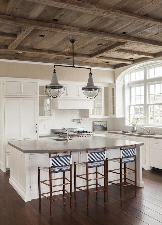 Barn Board Ceiling Cottage Kitchen SB Long Interiors