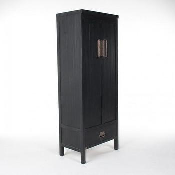 Storage Furniture - LUCK CABINET I HD Buttercup - black asian cabinet, black chinese cabinet, asian style cabinet, asian cabinet with brass pulls,