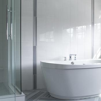 Oval Freestanding Bathtub Contemporary Bathroom Leo Designs Chicago
