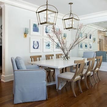 Dining Room Lanterns, Transitional, dining room, SB Long Interiors