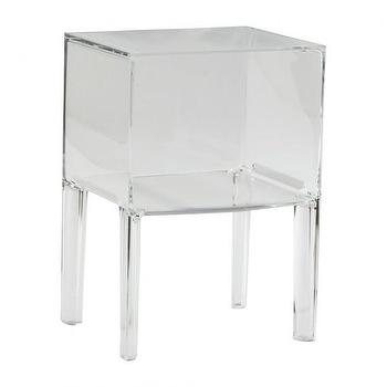 Tables - SMALL GHOST BUSTER I HD Buttercup - acrylic cube side table, modern acyrlic side table, acrylic nightstand,