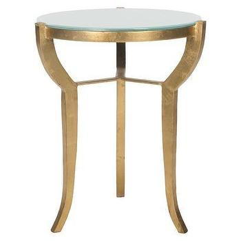 Tables - Safavieh Ormond Accent Table - Gold I Target - round gilded accent table, round gold leafed accent table, round gilt side table,