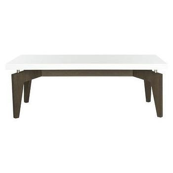 Tables - Safavieh Josef Coffee Table I Target - espresso coffee table, espresso and white coffee table, modern white topped coffee table,