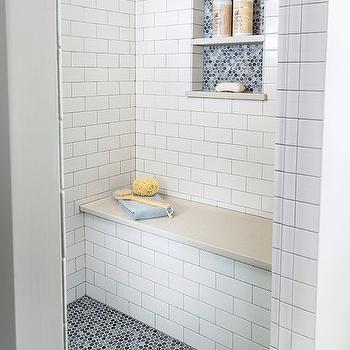 Penny Shower Floor, Transitional, bathroom, Casa Verde Design