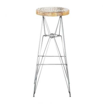 Seating - STRUCTURE STOOL I HD Buttercup - steel stool, steel stool with wood seat, geometric steel stool,