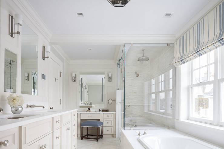 Tub With Attached Shower Transitional Bathroom Sb