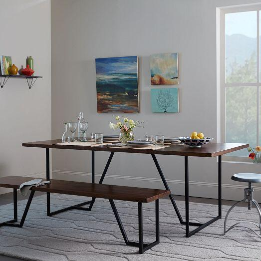 Dining Table West Elm Iron Based Dining Table Walnut Dining Table