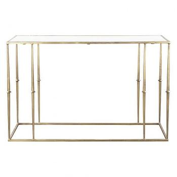 Tables - GLAM MARBLE TOP CONSOLE TABLE I HD Buttercup - brass console table, plated brass console table, marble topped brass console table, brass white marble console table,