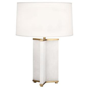 Lighting - Fineas Table Lamp design by Robert Abbey I BURKE DECOR - alabaster table lamp, alabaster and brass table lamp, alabaster cross shaped table lamp,