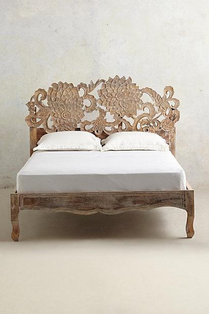 Handcarved Lotus Bed I