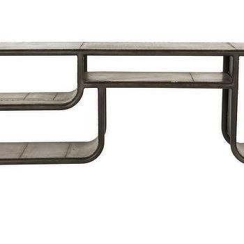Tables - Helmut Entertainment Console I  Jayson Home - industrial console table, iron console, industrial media console,
