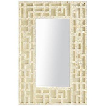 Mirrors - Mother-of-Pearl Trellis Mirror I Pier One - mother of pearl mirror, pearl trellis mirror, capiz fretwork mirror, mother of pearl fretwork mirror,
