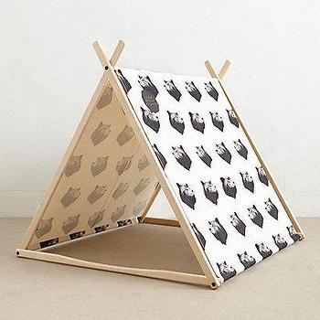 Miscellaneous - Black Bear Play Tent I anthropologie.com - kids tent, bear print tent, kids canvas tent, bear print canvas tent, play room tent, indoor kids tent,