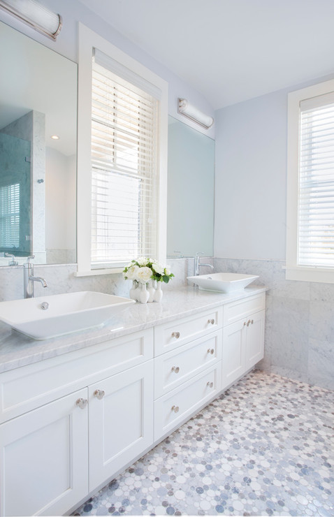 Blue Gray Paint Colors Transitional Bathroom