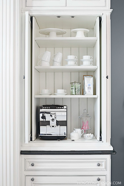 Hidden Coffee Station Transitional Kitchen Benjamin