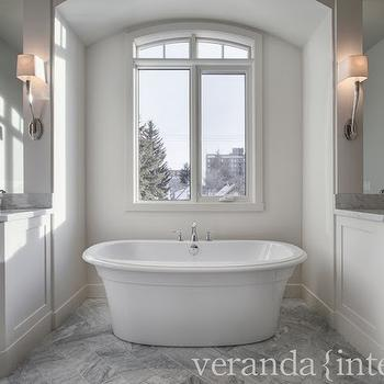 Veranda Interiors Bathrooms Gray And White Bathroom