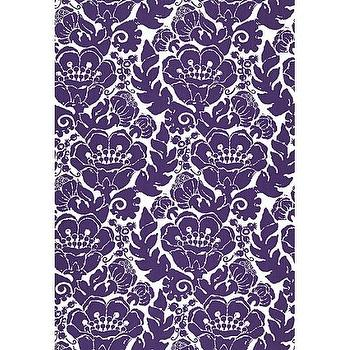 Fabrics - Louis Nui Print Fabric I Twenty One 7 - purple and white floral fabric, violet and white floral fabric, violet batik floral fabric, purple batik floral fabric,