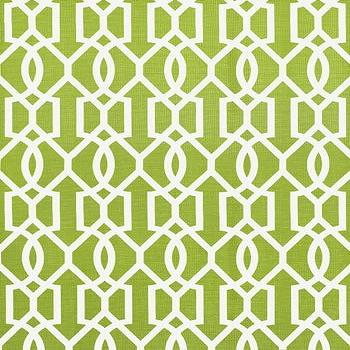 Fabrics - Downing Gate Fabric I Twenty One 7 - green geometric fabric, apple green geometric fabric, green trellis fabric, green lattice fabric,